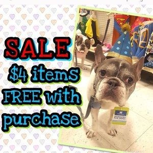 $4 items free w/purchase!!